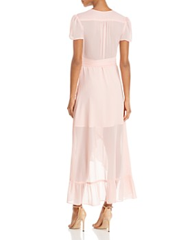 WAYF - Ruffle Short-Sleeve Wrap Dress - 100% Exclusive