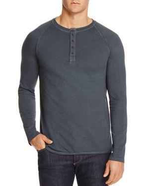 M SINGER Henley Shirt in Charcoal
