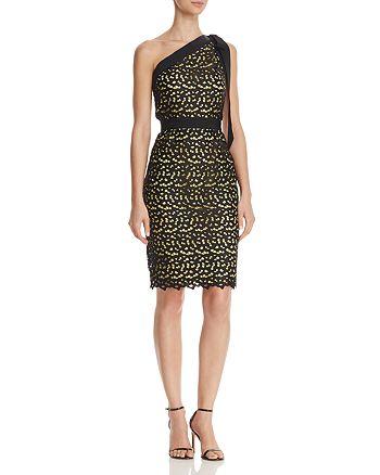 Boutique Moschino - One-Shoulder Macramé Lace Dress
