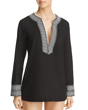 Macbeth Collection V-Neck Tunic Swim Cover-Up