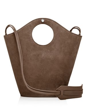 Elizabeth and James Market Small Suede and Leather Tote