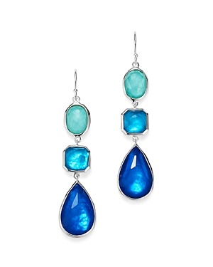Ippolita Sterling Silver Rock Candy Wonderland Mother-Of-Pearl and Clear Quartz Triple Doublet Linea