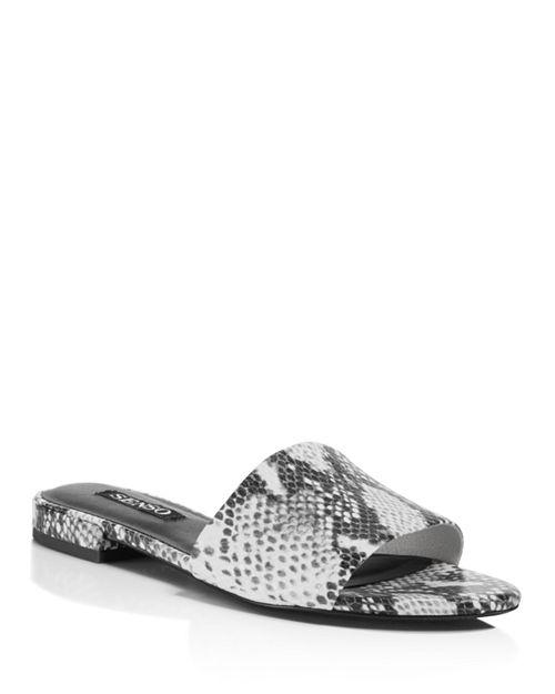 SENSO - Women's Zulu II Snake Embossed Leather Slide Sandals