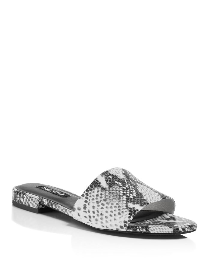 SENSO - Women's Zulu II Snake Embossed Leather Slide Sandals