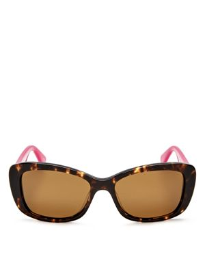 kate spade new york Claretta Polarized Square Sunglasses, 53mm