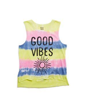 So Nikki. Girls' Good Vibes Tie-Dye Tank - Big Kid
