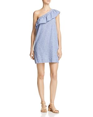 Aqua One-Shoulder Ruffle Dress - 100% Exclusive