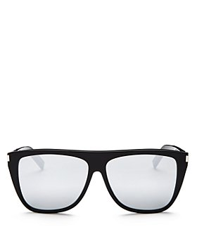 Saint Laurent - Men's SL 1 Mirrored Flat Top Square Sunglasses, 59mm