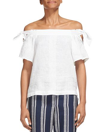 Whistles - Lila Off-the-Shoulder Top