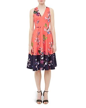 Ted Baker Tropical Oasis Color Block Dress