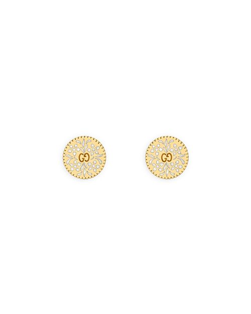 Gucci - 18K Yellow Gold Icon Blooms Stud Earrings