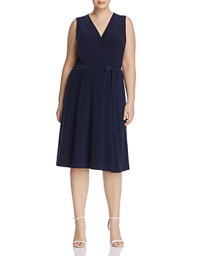 B Collection by Bobeau Curvy Addie Faux Wrap Dress