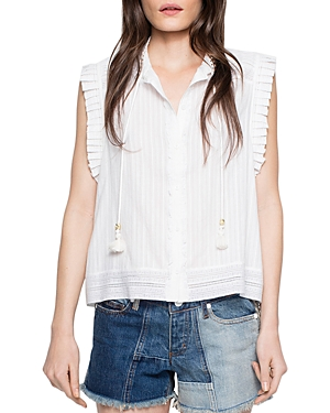 Zadig & Voltaire Cory Lace-Trimmed Top