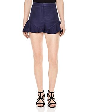 Sandro Mystery Ruffle Trimmed Shorts