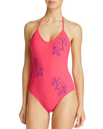 Vilebrequin - Placed Embroidered Cockatoo One Piece Swimsuit