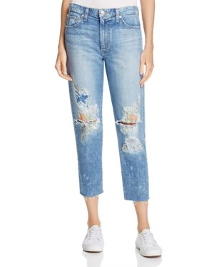 Joe's Jeans Debbie Embroidered Crop Jeans in Natalya