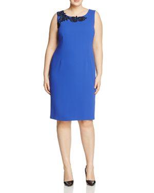 Marina Rinaldi Dedicare Crepe Sheath Dress