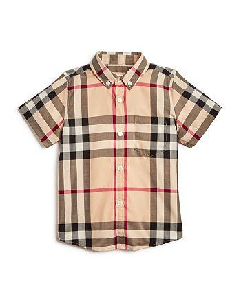 Burberry - Boys' Check Button Down Shirt - Little Kid, Big Kid