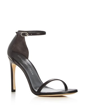 Stuart Weitzman Nudistsong Ankle Strap High Heel Sandals