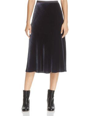 Vince Velvet A-Line Skirt