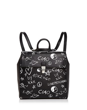 1e9aa850350 Love Moschino Graffiti Leather Backpack   Bloomingdale's
