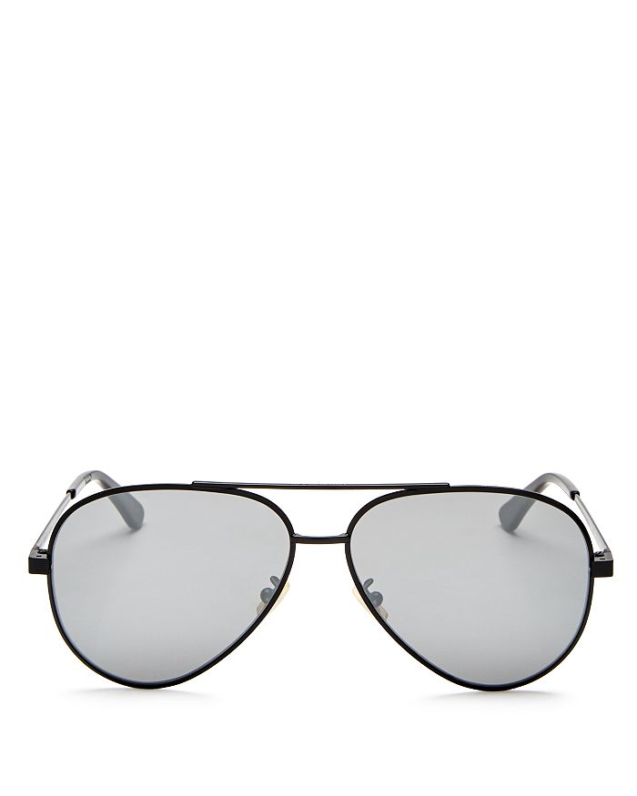fa4aabbde1 Saint Laurent - Men s Zero Base Brow Bar Aviator Sunglasses