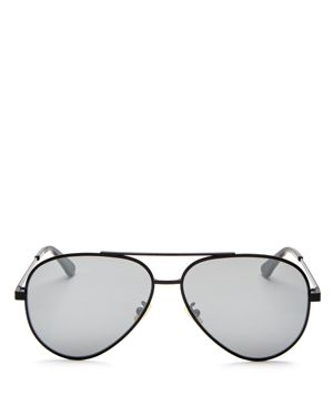 Saint Laurent Men's Zero Base Brow Bar Aviator Sunglasses, 61mm