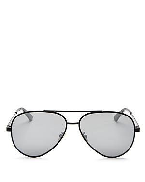Saint Laurent Zero Base Brow Bar Aviator Sunglasses, 61mm