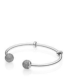 PANDORA Fast Track Collection Sterling Silver & Cubic Zirconia Open Bangle - Bloomingdale's_0