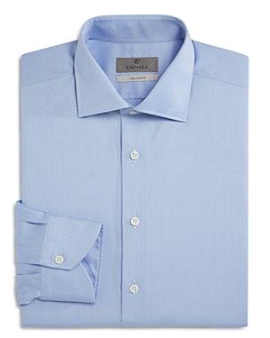 Canali Chevron Impeccabile Regular Fit Dress Shirt