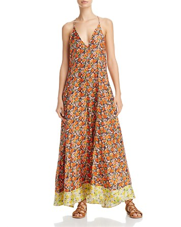 $Rebecca Taylor Moonlight Floral Print Silk Maxi Dress - Bloomingdale's