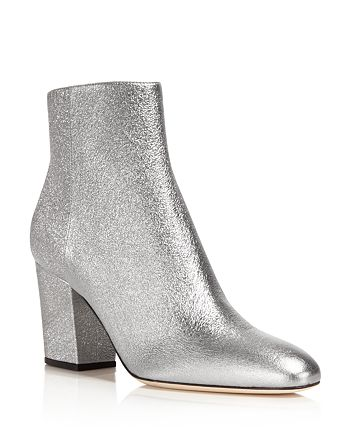 Sergio Rossi - Women's Virginia Metallic High Block Heel Booties - 100% Exclusive