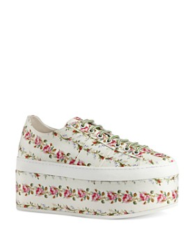 Gucci - Women's Peggy Platform Lace Up Sneakers