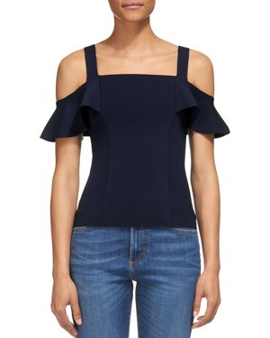 Whistles Cold-Shoulder Knit Top