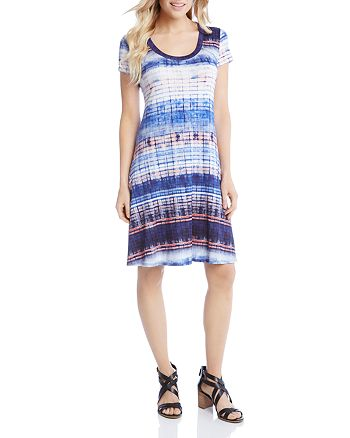 Karen Kane - Tie-Dye Stripe Tee Dress