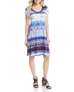 Karen Kane Tie-Dye Stripe Tee Dress