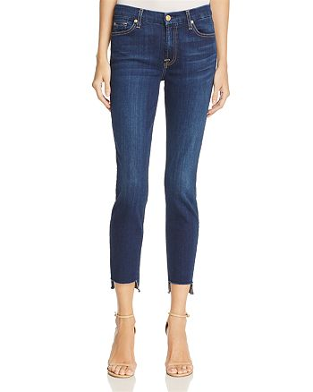7 For All Mankind - Ankle Skinny Jeans with Step Hem in Duchess – 100% Exclusive