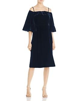 Whistles - Velvet Cold-Shoulder Dress - 100% Exclusive