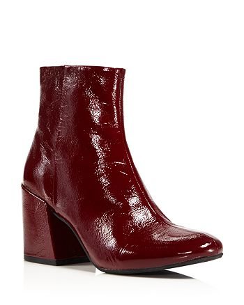 Kenneth Cole - Women's Randii Patent Leather Block Heel Booties