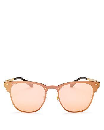 Ray-Ban - Unisex Blaze Mirrored Rimless Square Sunglasses, 47mm