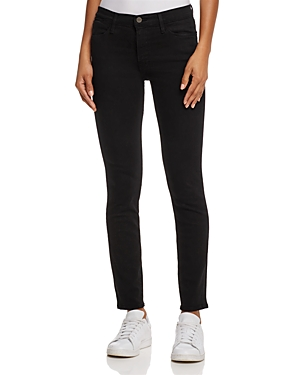 Frame Le High Ankle Skinny Jeans in Film Noir