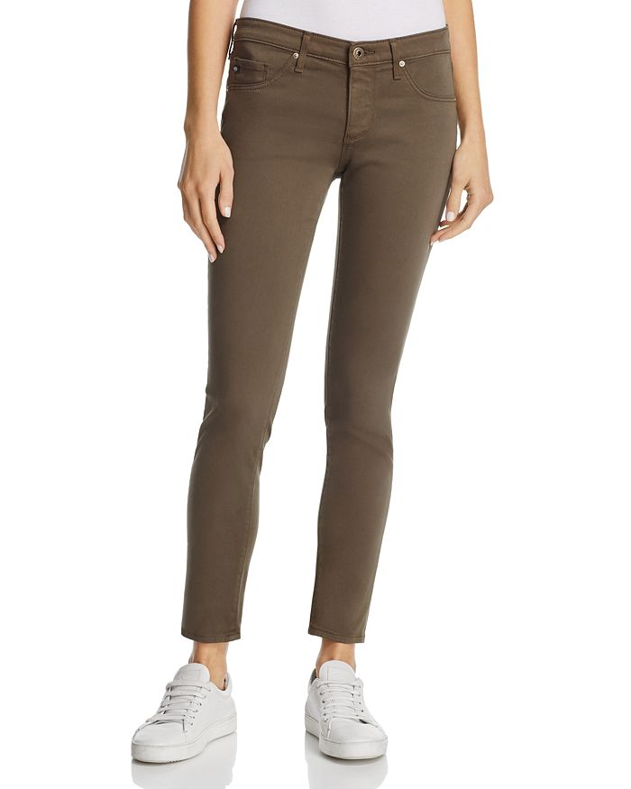AG - Sateen Legging Ankle Jeans in Army Green - 100% Exclusive