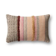"Loloi - Nashville Striped Pillow, 13"" x 21"""