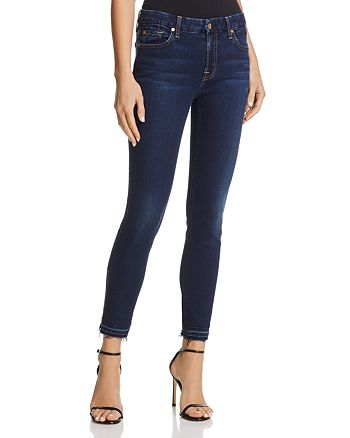 7 For All Mankind - The Ankle Skinny Jeans in Bair Eclipse - 100% Exclusive
