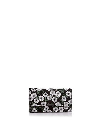 Loeffler Randall - Tab Floral Embroidered Suede Clutch