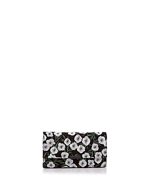 Loeffler Randall Tab Floral Embroidered Suede Clutch