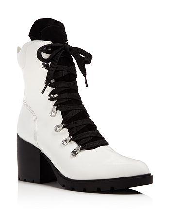 Kendall + Kylie - Women's Spencer Block Heel Combat Booties - 100% Exclusive
