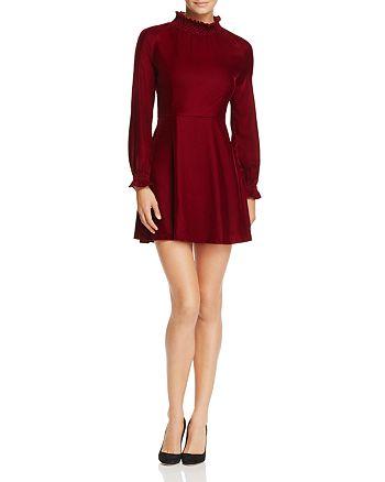 Maje - Ruffled Velvet Dress - 100% Exclusive