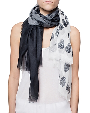 Zadig & Voltaire Kerry Faded Skull Oversized Scarf