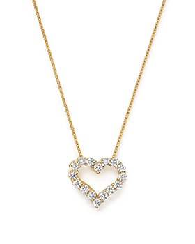 Bloomingdale's - Diamond Heart Pendant Necklace in 14K Yellow Gold, .25 ct. t.w. - 100% Exclusive